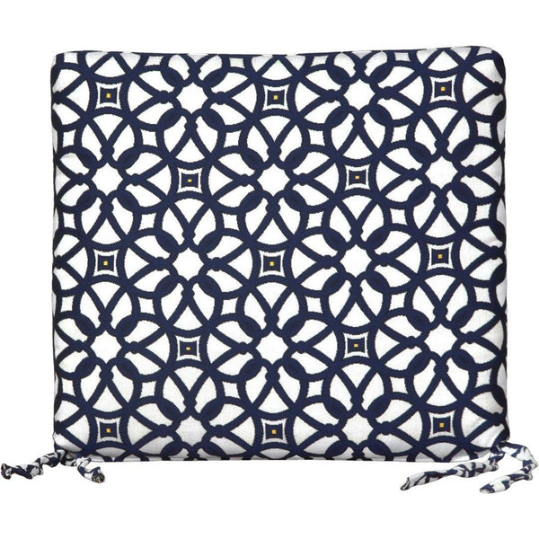 Outdoor Dining Cushion Luxe Indigo