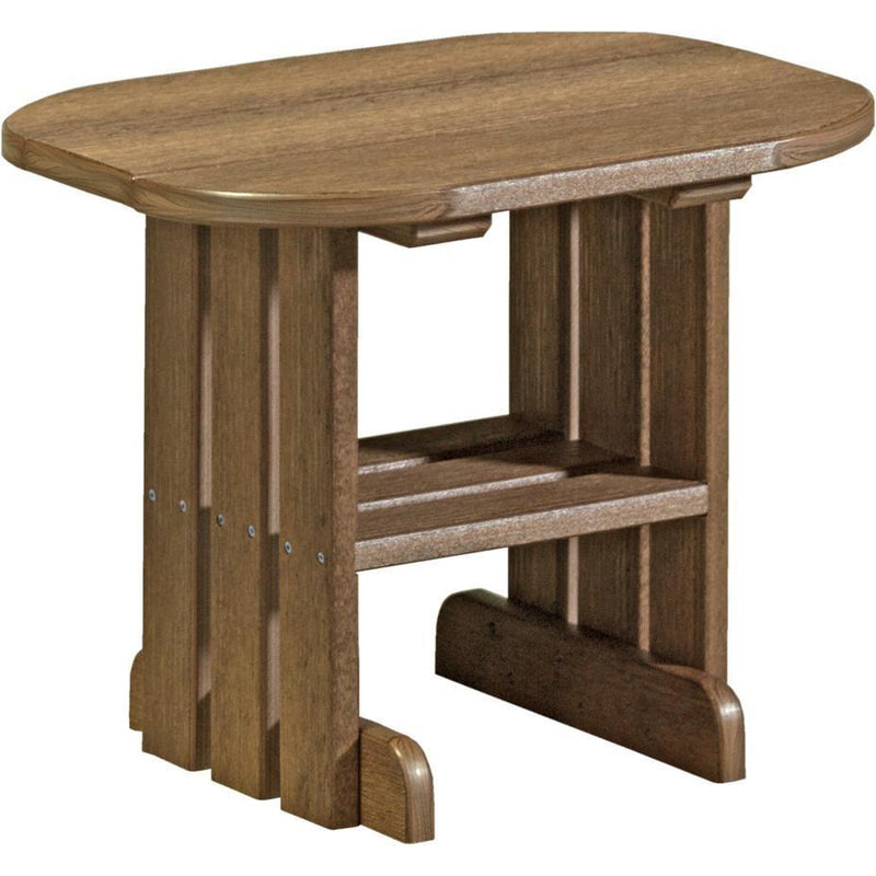Outdoor End Table Antique Mahogany