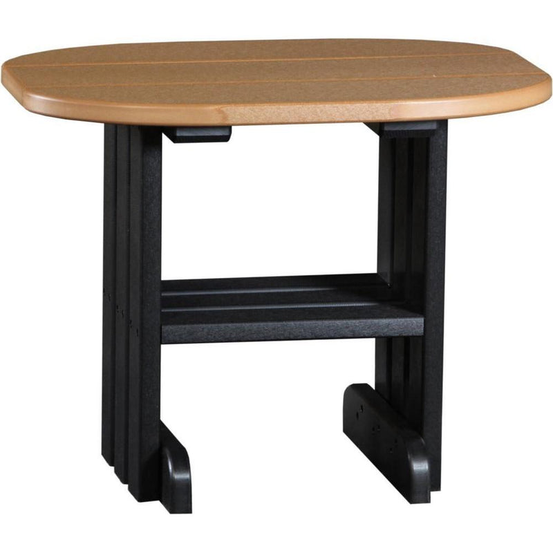 Outdoor End Table Chestnut & Black