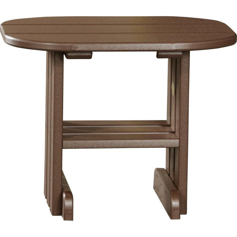 Outdoor End Table Chestnut Brown