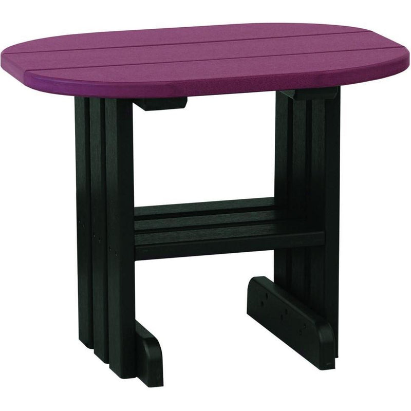 Outdoor End Table Cherrywood & Black