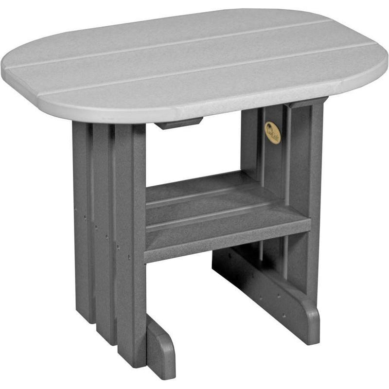 Outdoor End Table Dove Grey & Slate