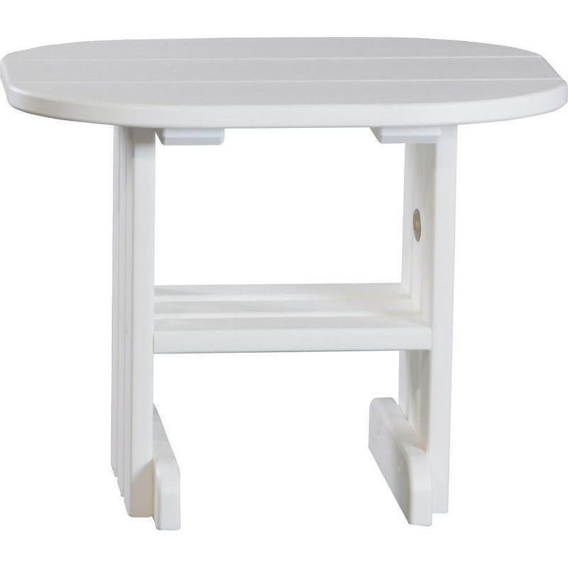 Outdoor End Table White