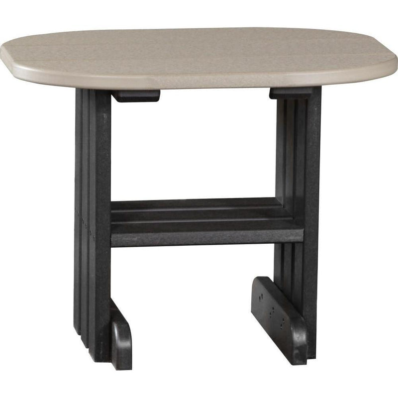 Outdoor End Table Weatherwood & Black