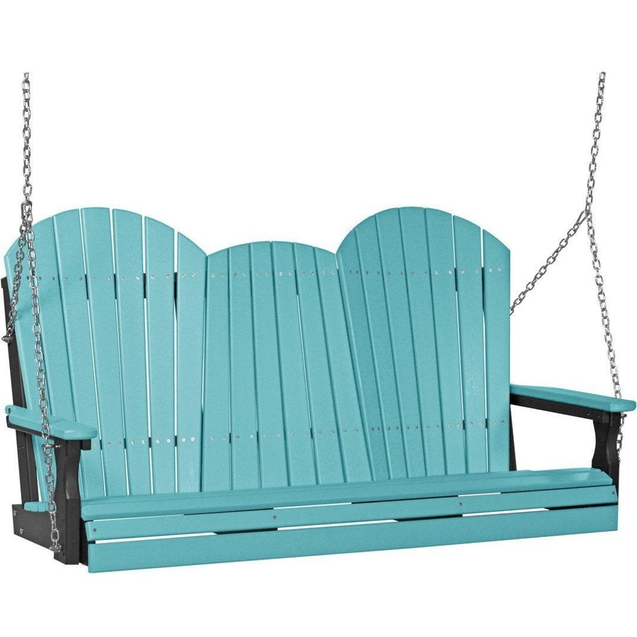5' Adirondack Swing Weatherwood & Black