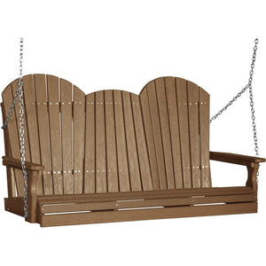 5' Adirondack Swing Antique Mahogany