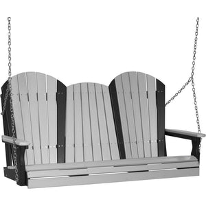 5' Adirondack Swing Dove Grey & Black