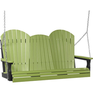 5' Adirondack Swing Lime Green & Black
