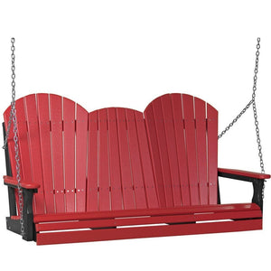 5' Adirondack Swing Red & Black