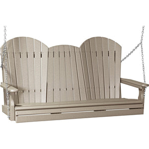 5' Adirondack Swing Weatherwood