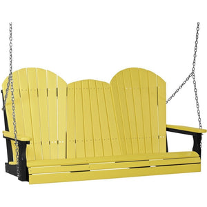 5' Adirondack Swing Yellow & Black