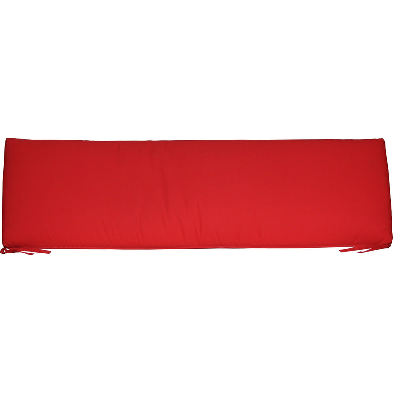 Outdoor 5' Seat Cushion Logo Red