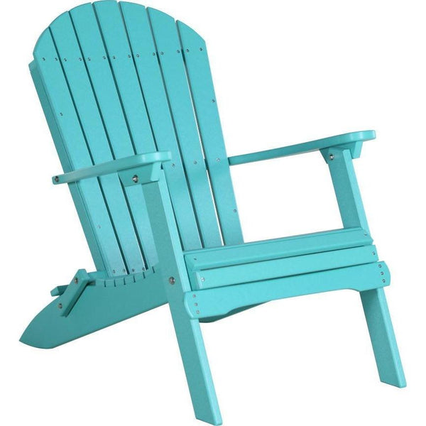 Folding Adirondack Chair Aruba Blue