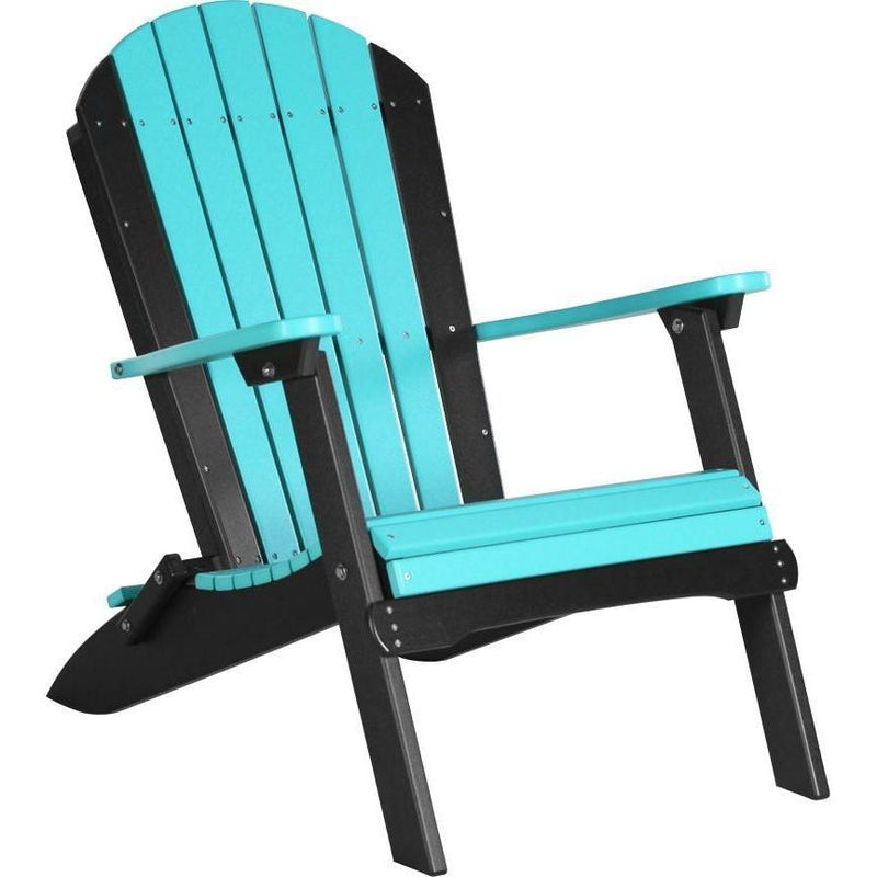 Folding Adirondack Chair Aruba Blue & Black