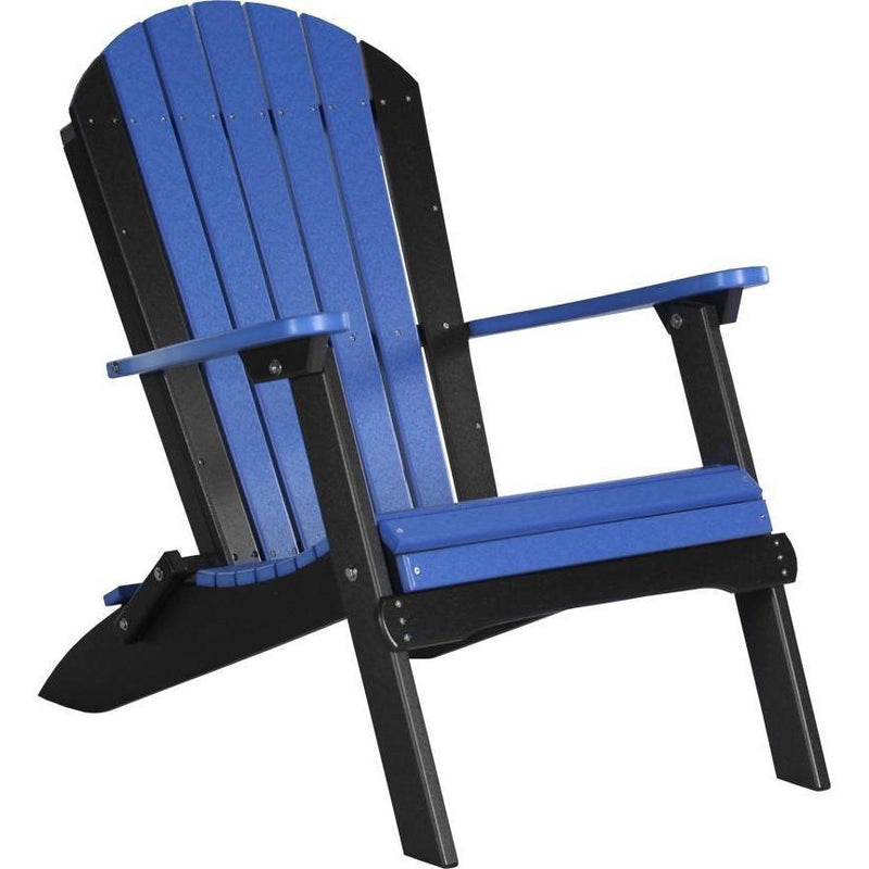 Folding Adirondack Chair Blue & Black