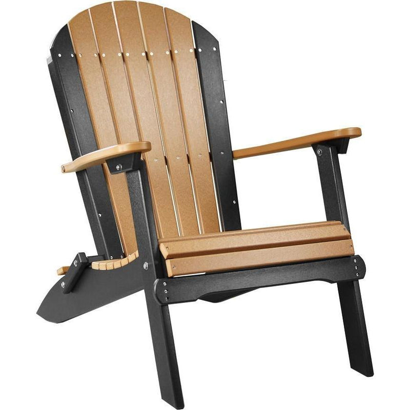 Folding Adirondack Chair Cedar & Black