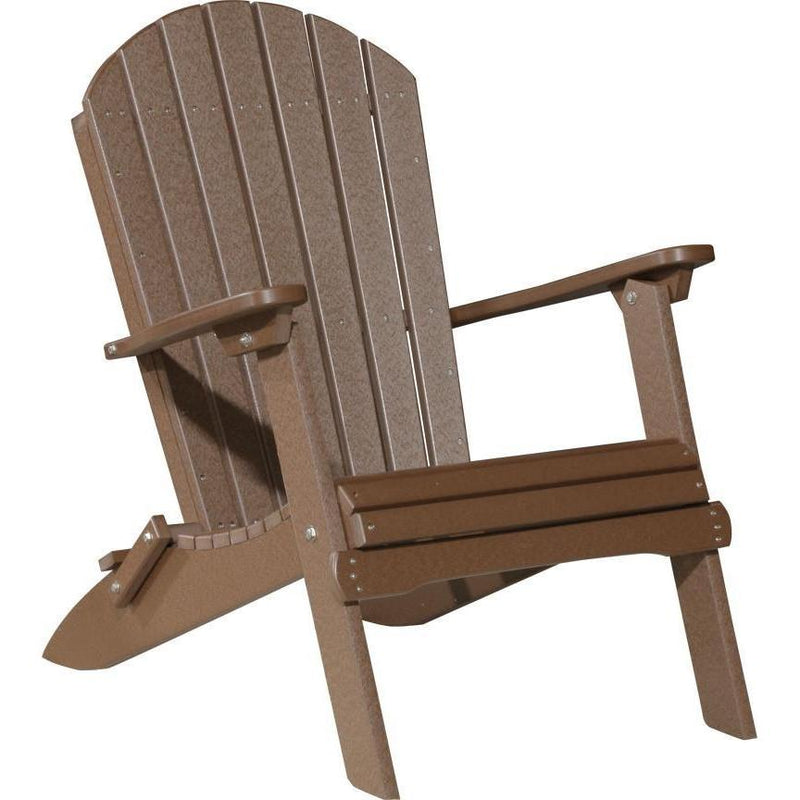 Folding Adirondack Chair Chestnut Brown