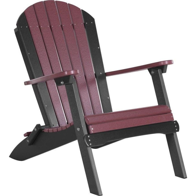 Folding Adirondack Chair Cherrywood & Black