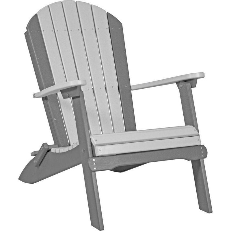 Folding Adirondack Chair Dove Grey & Slate