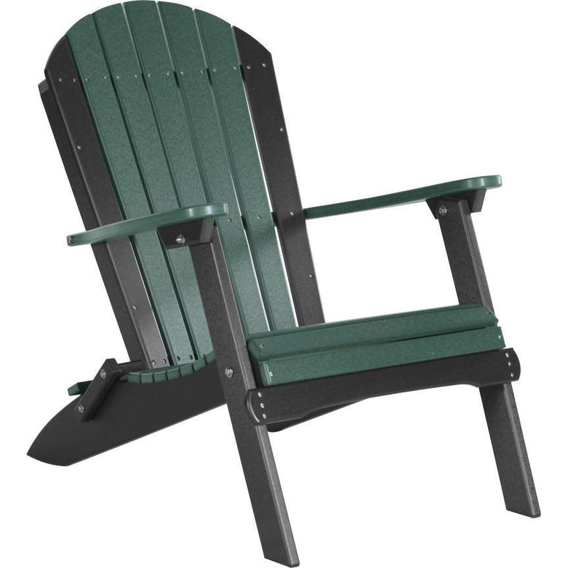 Folding Adirondack Chair Green & Black