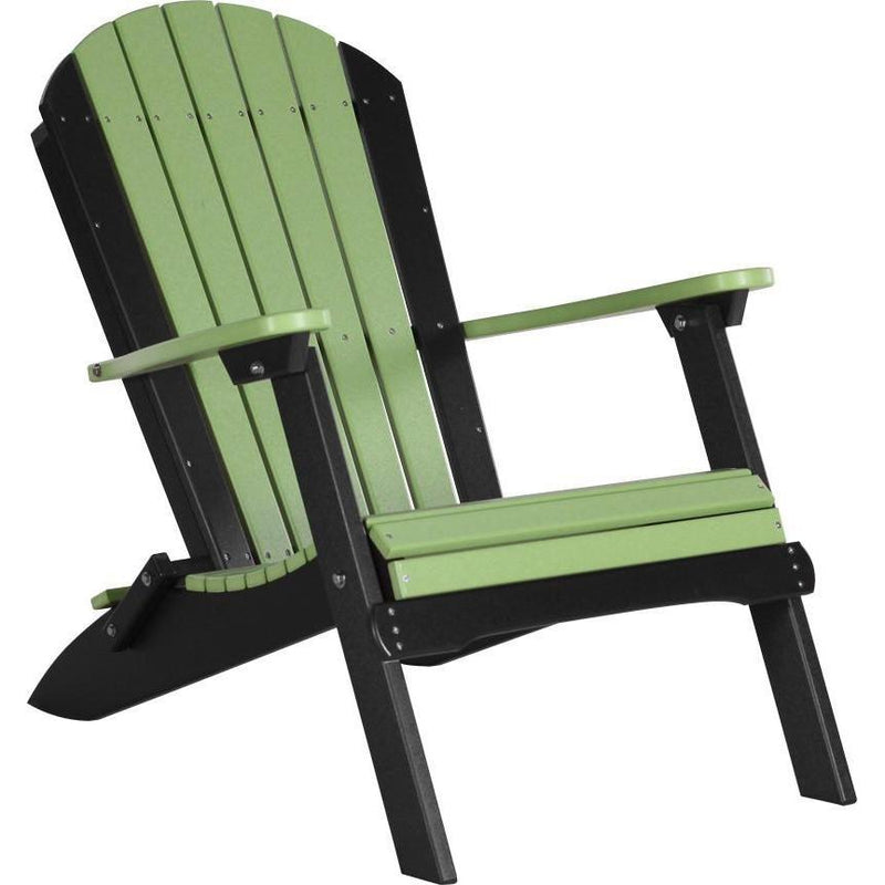Folding Adirondack Chair Lime Green & Black