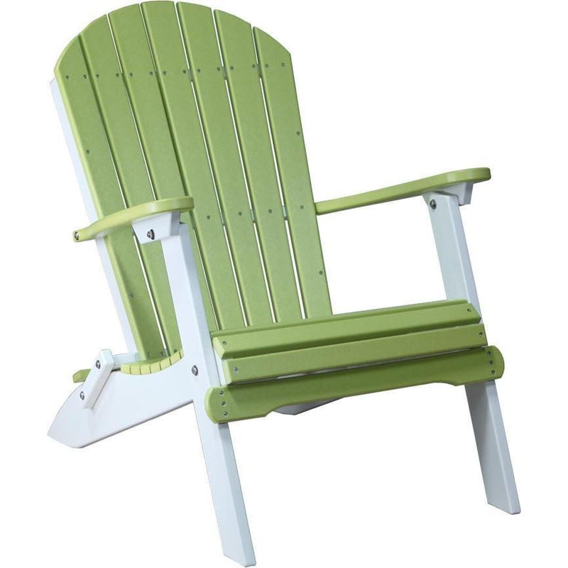 Folding Adirondack Chair Lime Green & White