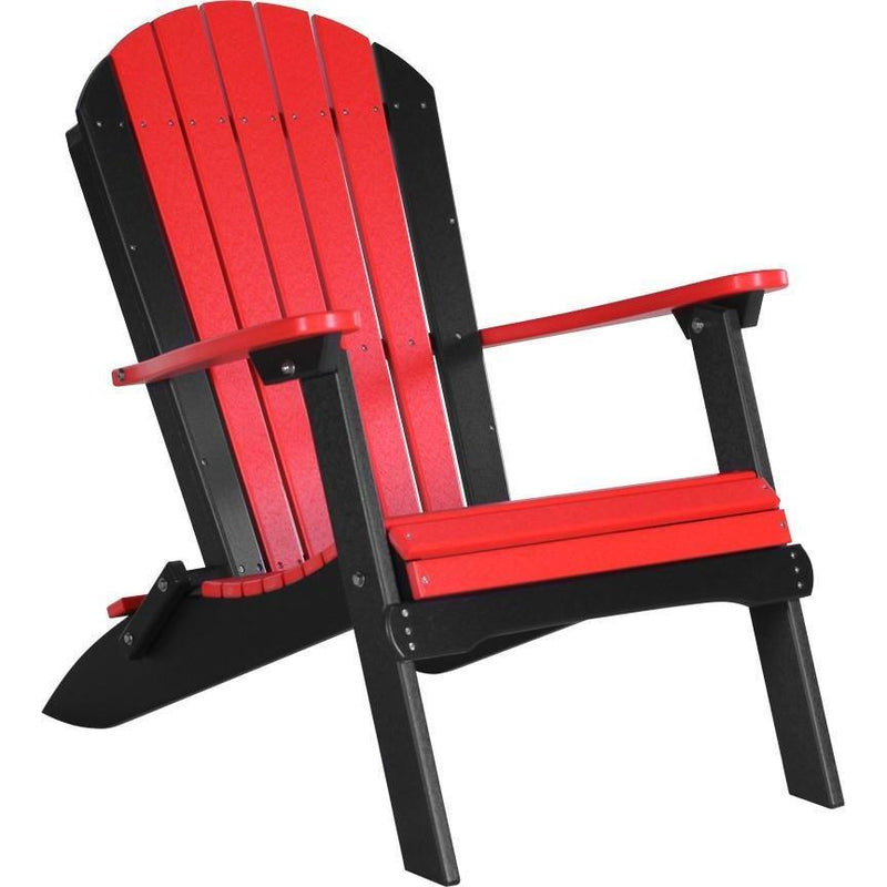 Folding Adirondack Chair Red & Black