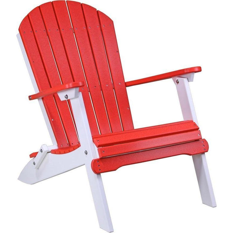 Folding Adirondack Chair Red & White