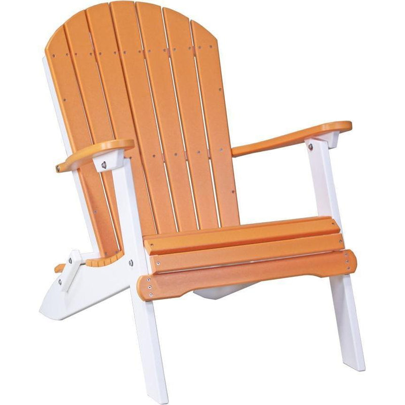 Folding Adirondack Chair Tangerine & White