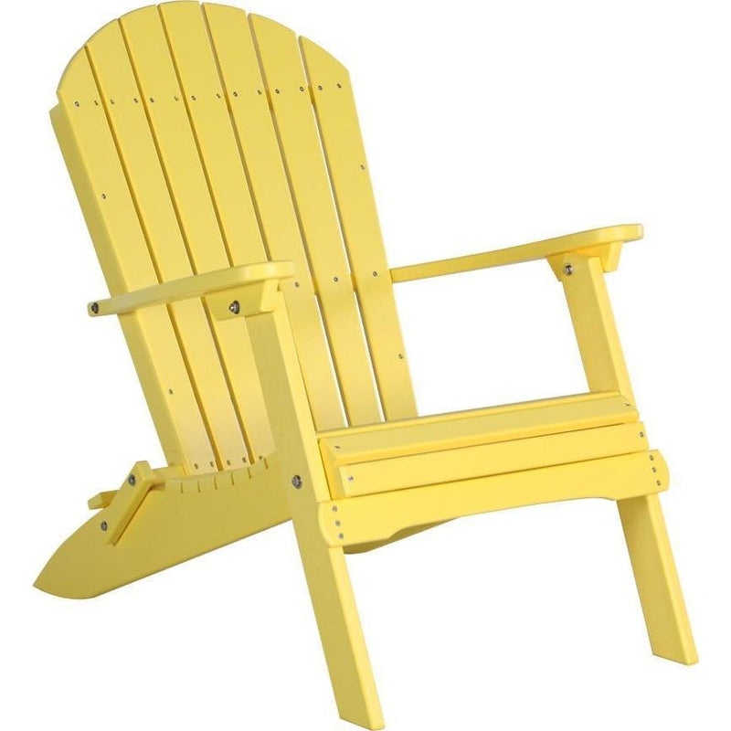 Folding Adirondack Chair Yellow