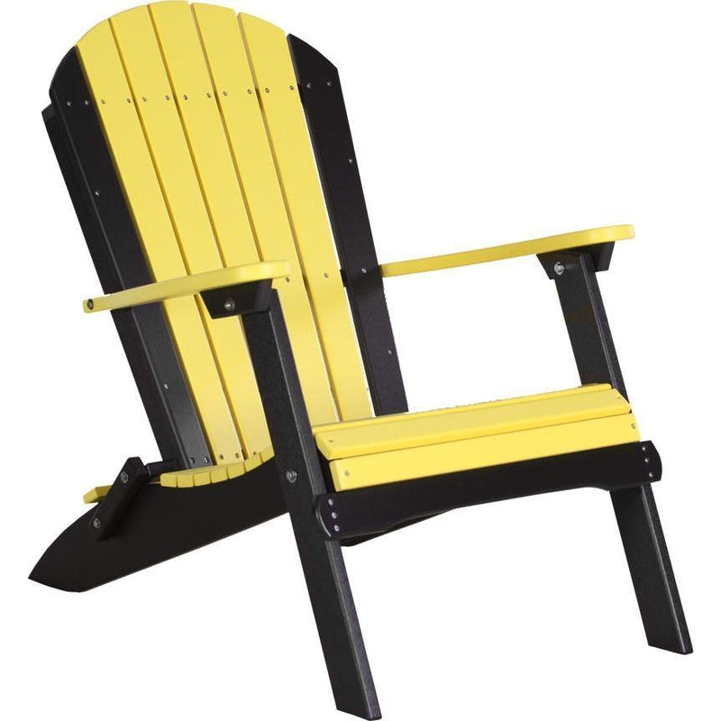 Folding Adirondack Chair Yellow & Black