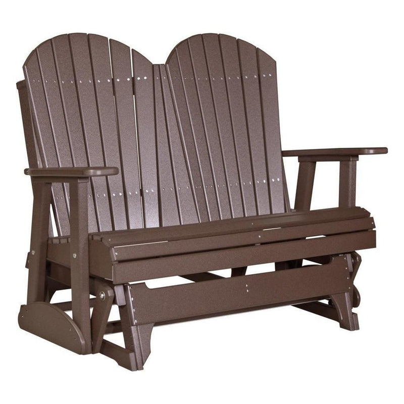 4' Adirondack Glider Chestnut Brown
