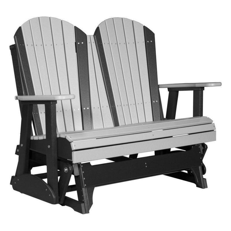 4' Adirondack Glider Dove Grey & Black