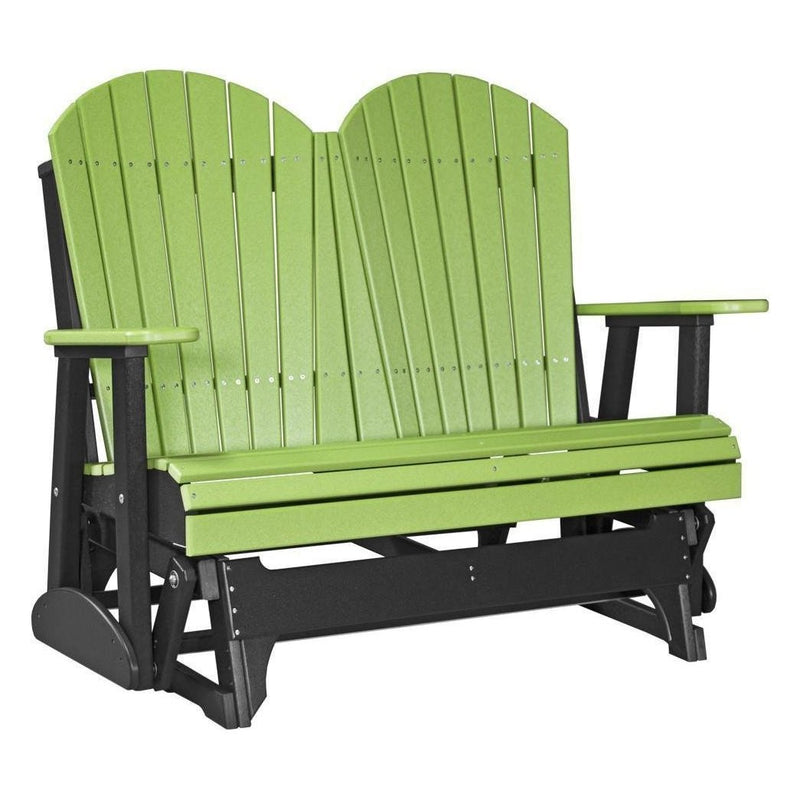 4' Adirondack Glider Lime Green & Black