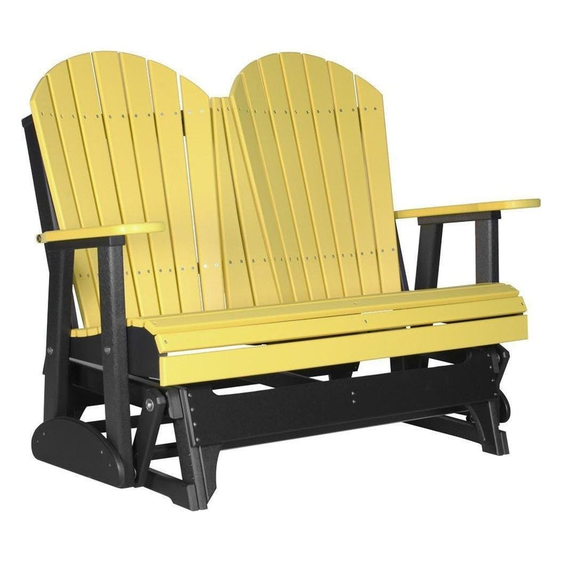 4' Adirondack Glider Yellow & Black