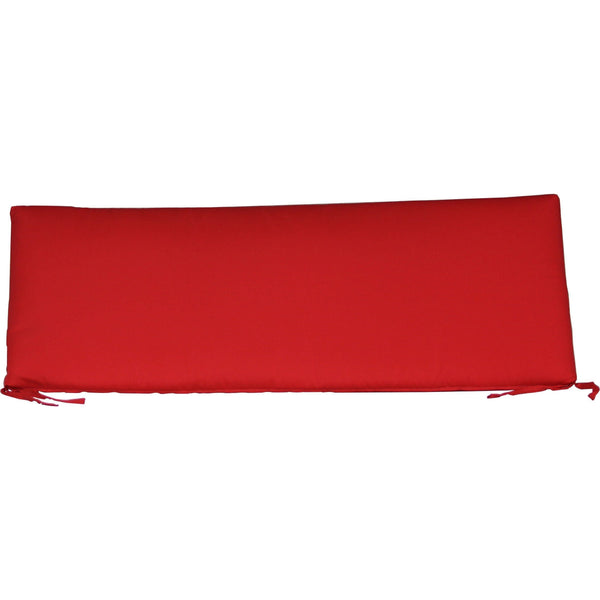 Outdoor 4' Seat Cushion Logo Red
