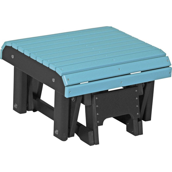 Outdoor Glider Footrest Aruba Blue & Black