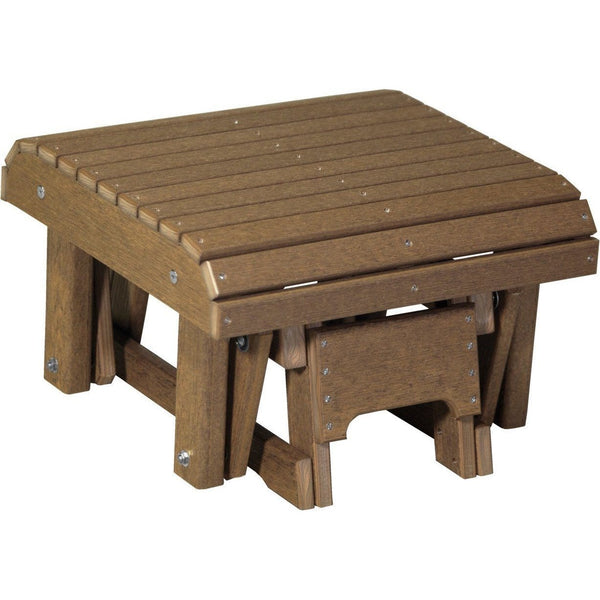 Outdoor Glider Footrest Antique Mahogany