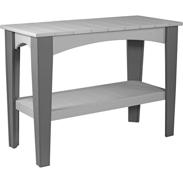 Island Buffet Table Dove Grey & Slate
