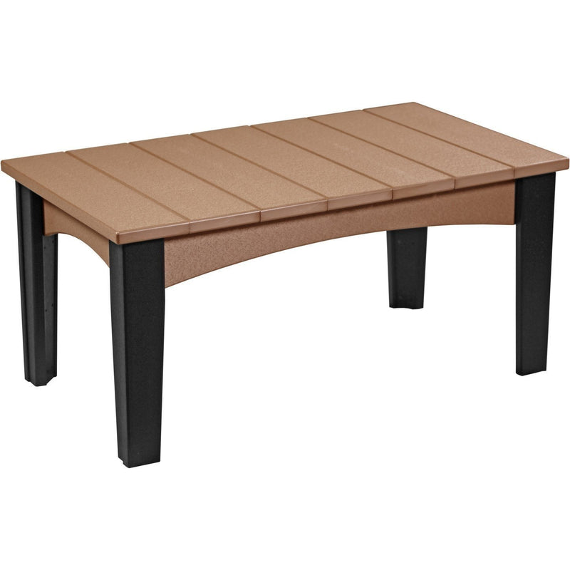 Island Coffee Table Cedar & Black