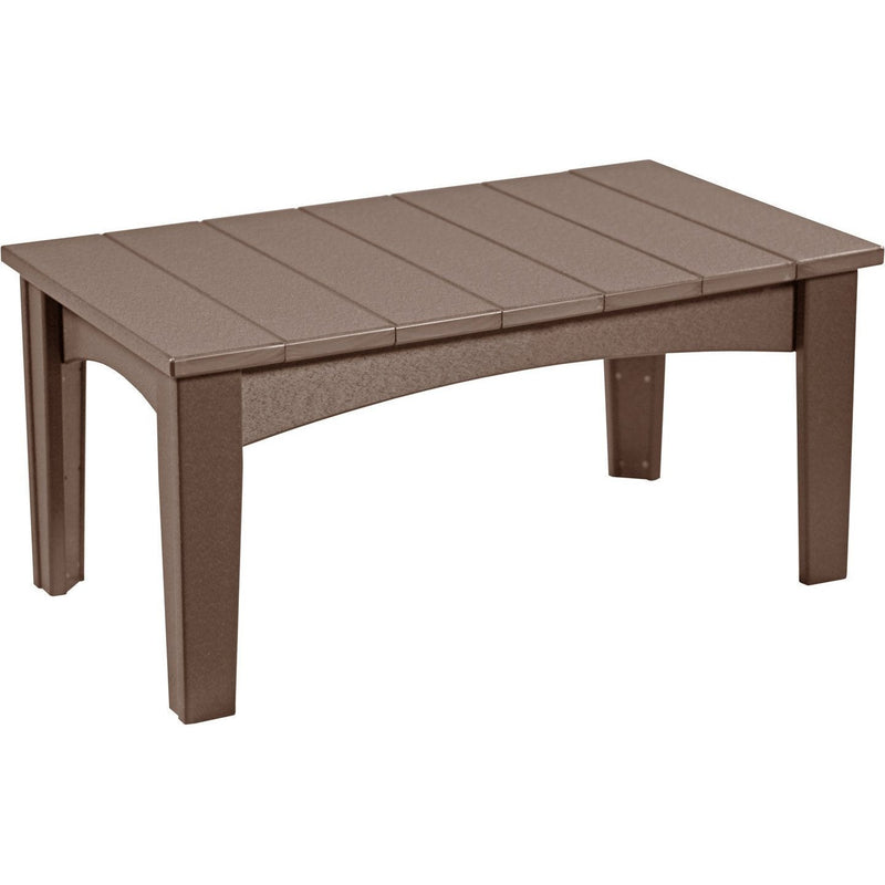 Island Coffee Table Chestnut Brown