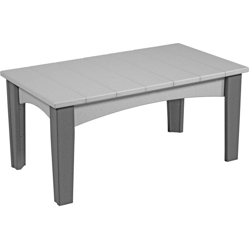 Island Coffee Table Dove Grey & Slate