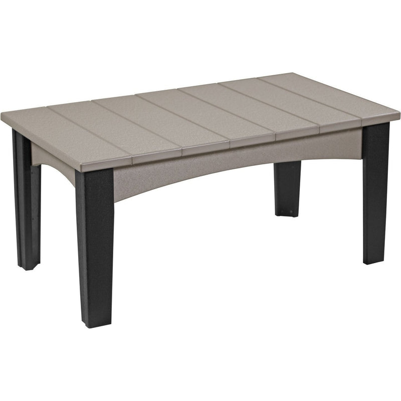 Island Coffee Table Weatherwood & Black