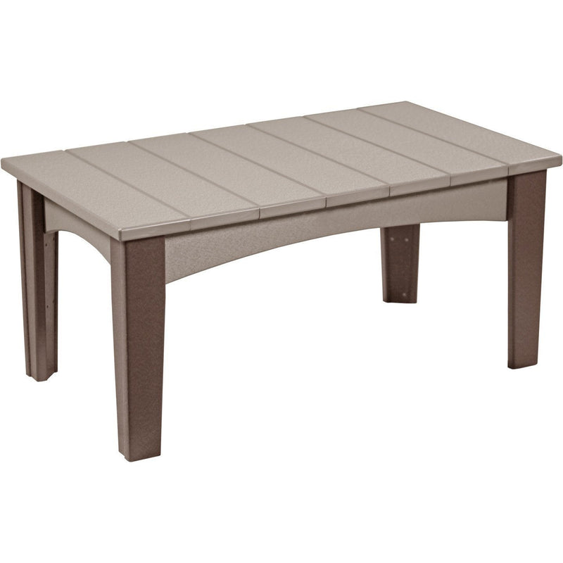 Island Coffee Table Weatherwood & Chestnut Brown