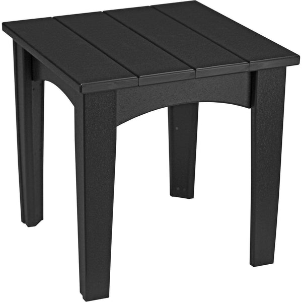 Island End Table Black