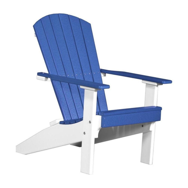 Lakeside Adirondack Chair Blue & White