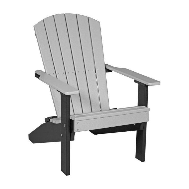 Lakeside Adirondack Chair Dove Grey & Black