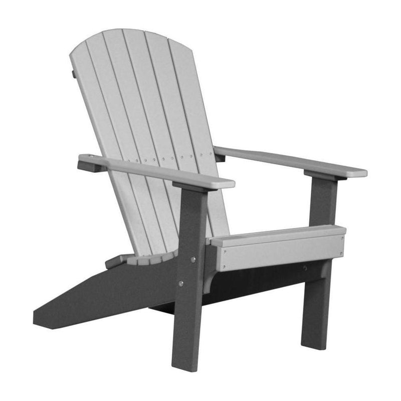 Lakeside Adirondack Chair Dove Grey & Slate