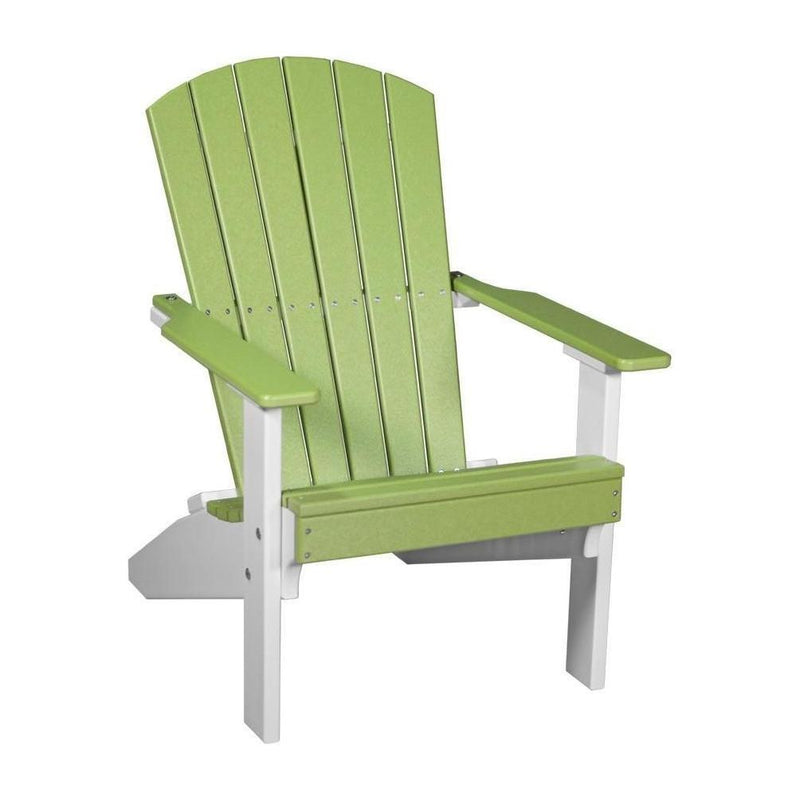 Lakeside Adirondack Chair Lime Green & White