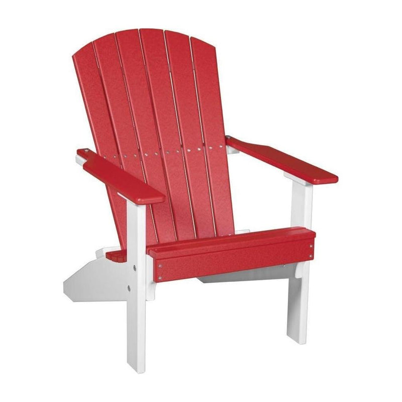 Lakeside Adirondack Chair Red & White